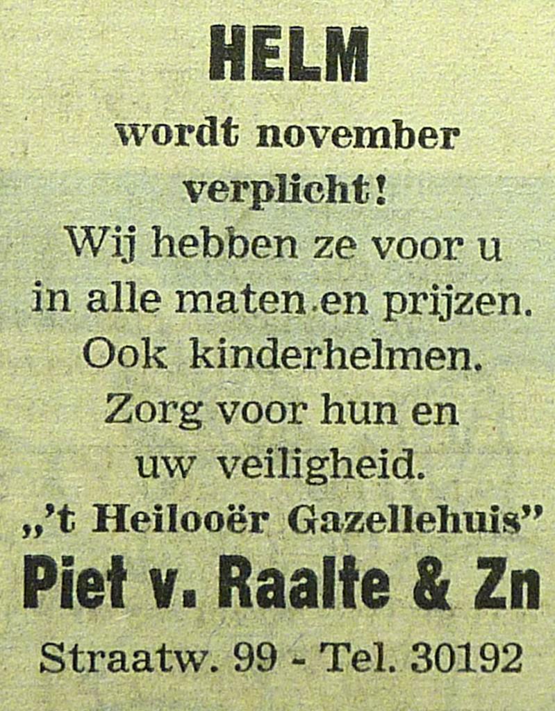 advertentie Piet van Raalte