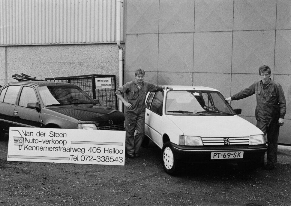 van der Steen Autobedrijf Joop en Maarten 1987 zwartwit